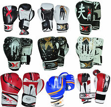 3X Sports Leather Boxing Gloves Sparring Punching Bag KickBoxing Training Thai