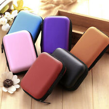 New Earphone Pocket Headphone Earbud Storage Bag Charger Hard Holder Case lot DP