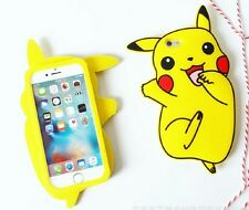 3D Cute Pikachu Silica gel Case Shell Cover For iPhone 6/6S Plus iPhone7 Plus