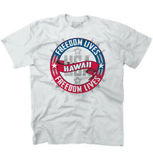 Freedom Lives Hawaii State T Shirt American Flag Patriotic T-Shirt Tee