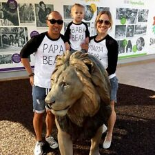 Couple T-Shirt PAPA/MAMA/BABY BEAR Love Matching Shirts Family Clothes Tee Tops