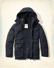 NWT Hollister by Abercrombie Channel Quilted Parka Fleece Lined Jacket S/M/L/XL