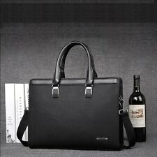 New Mens Business Leather Handbag Briefcase Laptop Shoulder Messenger Bag