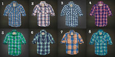 NWT Hollister by Abercrombie&Fitch Men's Classic Plaid Twill Shirt M 100%Cotton