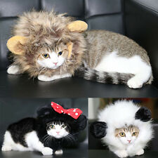 Cute Furry Pet Hat Costume Lion Mane Wig For Cat Halloween Dress Up With Ears