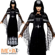Magic Mistress Ladies Fancy Dress Halloween Vampire Adults Womens Costume Outfit