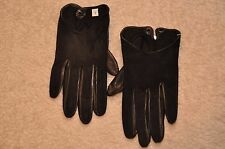 Women Italian nappa Leather and suede driving wrist sort  Gloves
