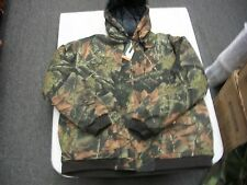 TRAIL CREST MENS HUNTING QUILTED JACKET WITH HOOD VERY HOT WARM SIZE LARGE ONLY