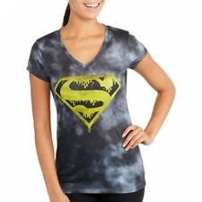 Juniors Short Sleeve Sublimated Halloween Tee-Superman. Shipping Included