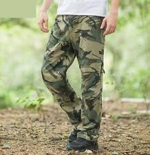 Combat Mens Cotton Cargo ARMY Military Camo loose Trousers outdoor work pants