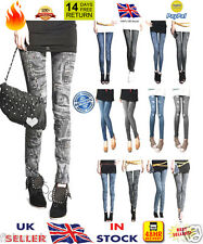 ☆☆New☆☆ Fashion Sexy Women Leggings Jeggings trouser pants jeans look Size 6-12
