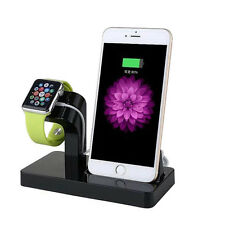 Charging Dock Station Cradle Desktop Charge Stand Holder for Apple Watch iPhone