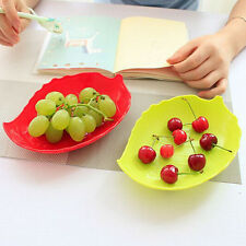 Creative Leaf Shaped Candy Dish Fruit Plate Plastic Tray Dried Fruit Tray