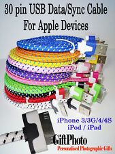 Apple Phone -Braided- cable USB charger & Sync Cable 1-3m - iPhone 3/3g/4/4s