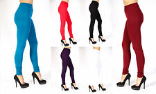 Womens Ladies Full Length Plain Stretchy Elasticated Extra Long Ruched Leggings