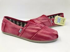 New!! Mens Toms Classics Red Stone Washed Twill HT6
