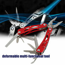 Multifunction Portable 9 In 1 Folding Pliers Screwdriver Saw Outdoor Knife O4