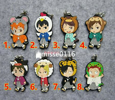 T139 Hot Japan anime haikyuu rubber Keychain Key Ring Rare cosplay