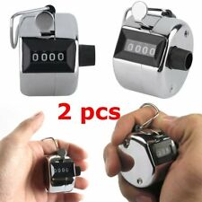 2PCS Sale High Quality Hand held Tally Counter 4 Digit Number Clicker Golf DP
