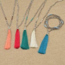 Jewelry Long Bohemian Beaded Tassel Pendant Necklace Sweater Chain