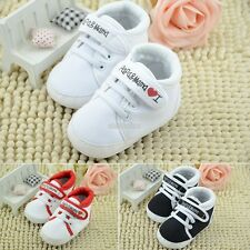 Baby Girls Boy Toddler infant Soft Sole Crib Shoes sneaker Size 0-6-12-18 Months