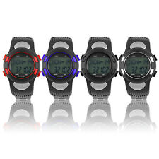 3D Pulse Heart Rate Monitor Calories Counter Pedometer Sport Watch Waterproof O4