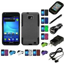For Samsung Galaxy S2 i9100 Hybrid Rugged Impact Hard Soft Case Cover Headphones