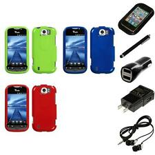 For HTC Mytouch 4G Slide Rigid Plastic Hard Snap-On Case Phone Cover Headphones