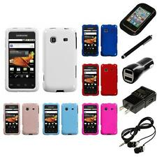 For Samsung Galaxy Prevail M820 Rigid Plastic Hard Snap-On Case Cover Headphones