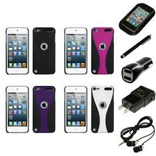 For iPod Touch 5th 6th Gen Snap-On Rear Hard Back Cover Phone Case Headphones