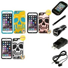 For iPhone 6/6S Plus [5.5] Hybrid Skull Skeleton Hard Case Headphones