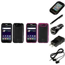 For LG Connect 4G MS840 TPU Hard Case Skin Phone Cover Headphones