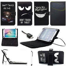 "PU Leather Stand Case Cover W/Micro USB Keyboard for 7"" ~10.1"" Android Tablet"
