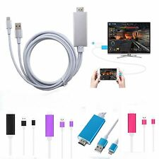 HDMI To Lightning Cable 8 Pin Digital AV HDTV Adapter For iPhone 7 6 5 iPad Air