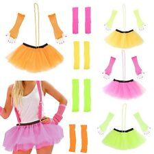 NEON TUTU SKIRT SET HEN PARTY 80'S NET FANCY DRESS BALLET SKIRT COSUME NET