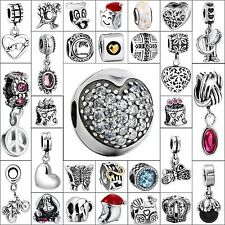 Animals Plants Style Charms Bead Jewelry Fit Brand 925 Silver European Bracelets