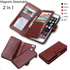 2in1 Detachable Wallet Flip Leather Case Card Holder For iphone X 8 7 6 plus 5s