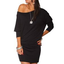 Women Long Sleeve Off Shoulder Mini Tunic Dress