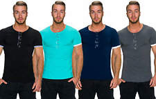 Men's T-Shirt Henley Style Poppers Jersey Leisure Time Party top L 52 54