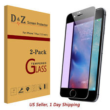 2x Anti-blue Ray Full Coverage Tempered Glass Screen Protector For iphone 7 Plus