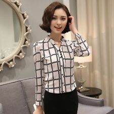 Fashion Chiffon Blouse Loose Casual Summer T-Shirt Long Sleeve