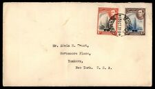 St Georges Bermuda multifranked cover to Yonkers New York