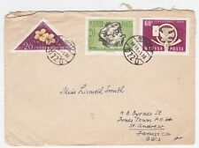 Hungary Budapest to Jamaica 1958 Cover With Arrival Cancel