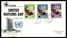 Ghana United Nations day first day cover with cachet honors 1958