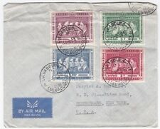 Belgian Congo Luluabourg to US 1958 4 Color Franking On Airmail cover