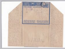 South Africa APO Active Service Letter Card Censored to Transvaal WWII