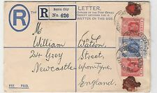 Nigeria Benin City to England 1930 Uprated Registered Stationery cover