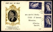 Queen Elizabeth South Africa coronation first-day cover illustrated royalty