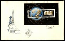 Budapest Hungary Gagarin souvenir sheet astronaut FDC first day cover