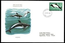 Falkland Islands 9 Pence Dolphin 1980 Cacheted First Day Cover FDC